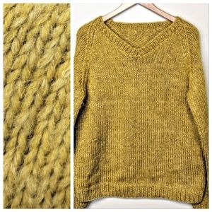Hand-knit Mohair Sweater
